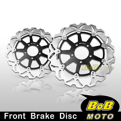 2pcs Front Stainless Steel Brake Disc Rotor For Suzuki GSX-R 10002001 2002