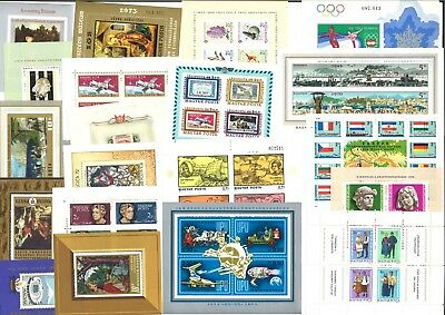Hungary -  20 All Different Stamp Mini Sheets - All Mint Unhinged