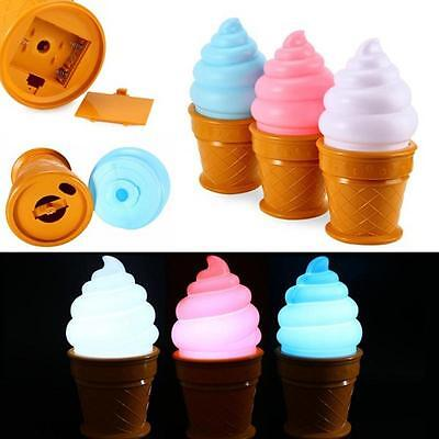 Ice Cream Desk Table LED Lamp Cone Shaped Night Light for Kids Children Bedroom
