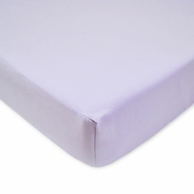 American Baby Company 100% Cotton Percale Fitted Crib Sheet Lavender New