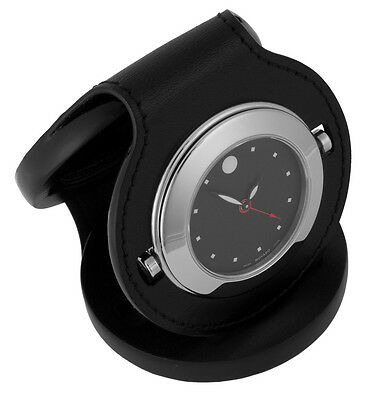 Movado Museum Dial Leather Case Travel Alarm Luxury Pocket Watch 1805467