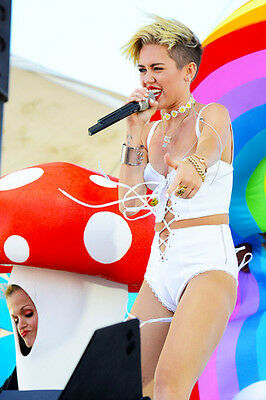 Miley Cyrus Skimpy Sexy Costume Ful on Stage 11x17 Mini Poster