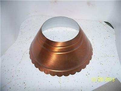 Colonial VINTAGE Metal Lamp Shade Light Fixture Colonial Early American COPPER