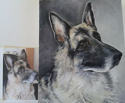 Dog or Cat portraits commissioned, an original painting from your photo