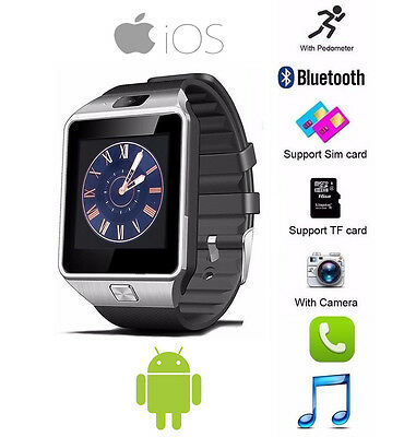 DZ09 Bluetooth Smart Watch Phone Camera SIM Card For Android IOS Phones iPhone