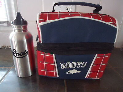Roots Isolated Lunch Bag & Aluminium  Water Bottle  Canada Beaver