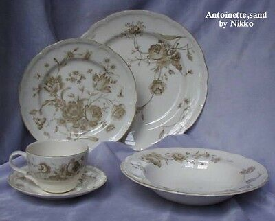 Antoinette, sand by Nikko Ceramics 5pc. Place Setting - NEW