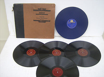"""Vintage 78 RPM Record Album with 5 Assorted Classical Composers (12"""" Records)"""