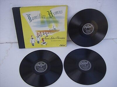 "Vintage 78 RPM Record Album Saint Luke's Choristers Familiar Hymns (10"" Capitol)"