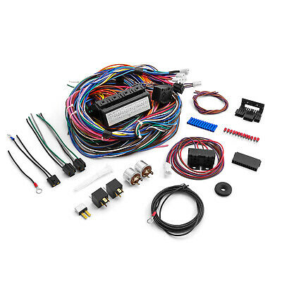 Universal 20 Circuit Wiring Harness Kit Street Rod Hot Rod Race Car