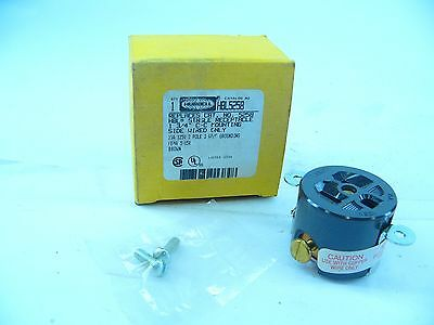"""Hubbell Hbl5258 Single Recep. 1-3/4"""" C-C Mounting Side-Wired Only 15A 125V (F237"""