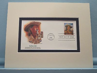 Buffalo Bill Cody and his Wild West Show & First day Cover of his own stamp