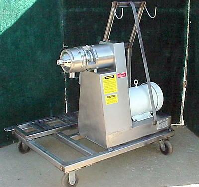 Bematek 5-HS Sanitary Homogenizing Colloid Mill CZ-260  15 HP  cost over $35,000