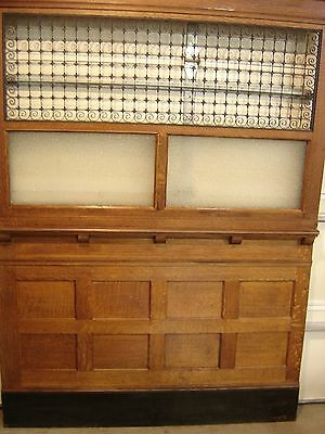 Two sections of Antique Quarter-Sawn Oak Bank Teller's Cage 9362