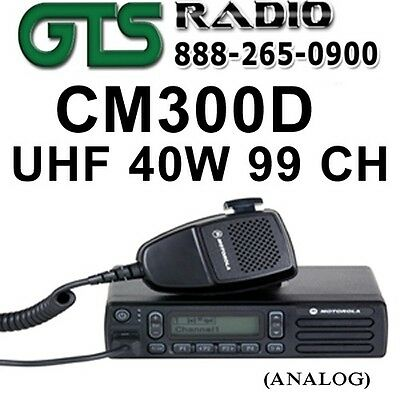 Motorola Cm300D Uhf 40W 99Ch Analog Mobile Two-Way Radio For Fire/ems/police