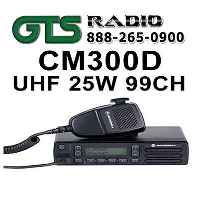Motorola Cm300D Uhf 25W 99Ch Digital Mobile Two-Way Radio For Fire/ems/police