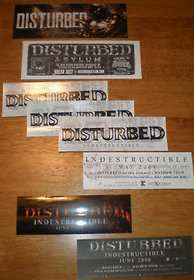 DISTURBED Asylum/Indestructible 5 PROMO STICKERS for cd