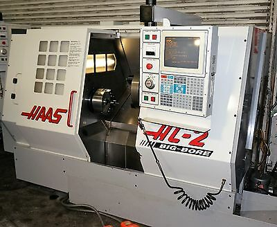 HAAS HL-2 Big Bore CNC Turning Center Lathe w/ Tooling