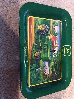 smaller john deere tractor tin plate or trays or candy/key holder
