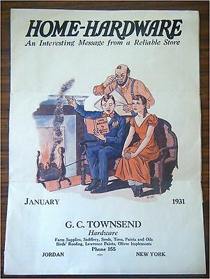 1931 G.C. Townsend Home Hardware Jordan NY Sales Flyer Great Ads & Illustrations