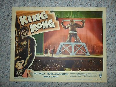 King Kong ORIGINAL 1956 RE-RELEASE LOBBY CARD #3  Monster Classic FAY WRAY