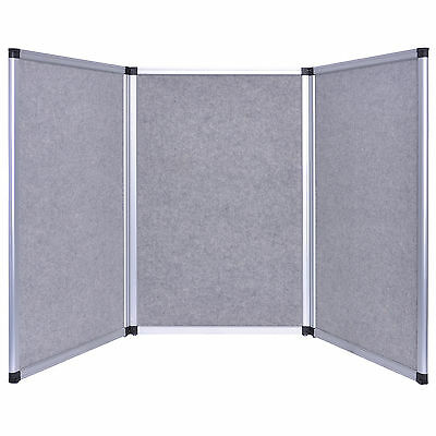 6ft Tabletop Folding 3 Panel Gray Trade Show Display Banner Presentation Board