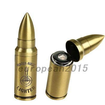 Alloy Collectible Cuspidal Rechargeable USB Bullet Cigarette Lighter Windproof