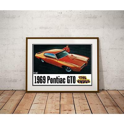 1969 Pontiac GTO Judge Poster - Muscle Cars
