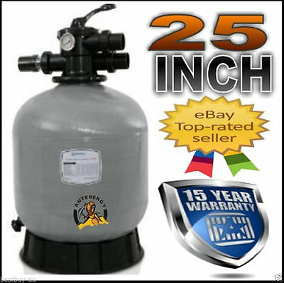 "New 2016 Genuine 25"" Pool Sand Filter Fibreglass Fiberglass Swimming 25 Inch"