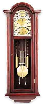 Large Pendulum Wall Clock Triple Chime Mahogany Office Home Art Modern Decor New
