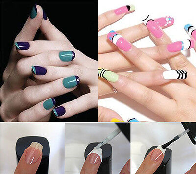 OZ Seller French Nail Tips Manicure Guides Form Stickers Nail Art DIY Stencil