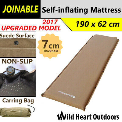 UPGRADED 7cm SELF INFLATING MATTRESS Thick Suede Inflatable Camping Outdoor