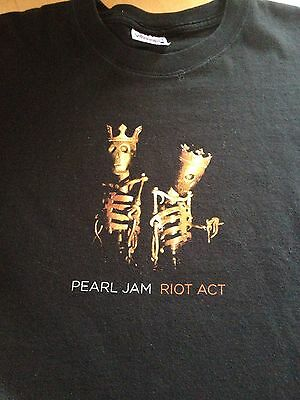 Pearl Jam Riot Act 2003 North American Tour Shirt Size XL Grunge Rock