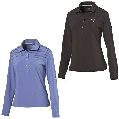 Puma W Sports Woven LS Polo Long sleeve Ladies Golf Dry Cell