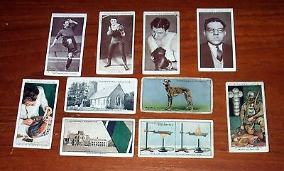 10  Churchman's Cigarette Cards Inc Greyhounds & Boxing Celebrities