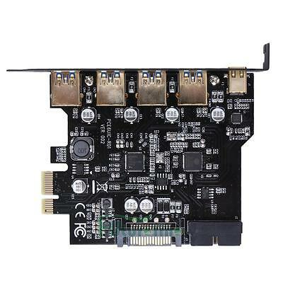 4 Port Type-C PCI-E to USB 3.0 PCI Express Expansion Card 19-Pin Power Connector