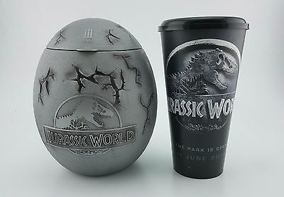 Jurassic World 2015 Movie Theater Dinosaur Egg Bucket T Rex Special collection