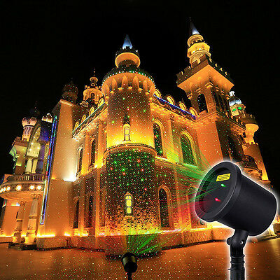 Xmas Fantastic Star Light Red/Green Shower Laser Christams Party Light Show Tool