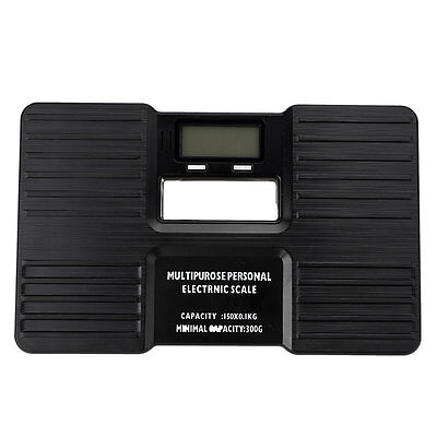 Digital Electronic Body Bathroom Scale Personal LCD Health Fitness 150kg Black