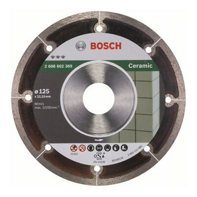 Bosch Diamanttrennscheibe Best for Ceramic Extra-Clean, 125 x 22,23 x 1,2 x 5 mm