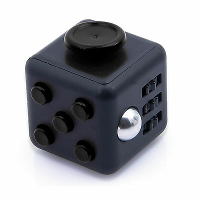 Black Fidget Cube Toy Christmas Gift ! Anxiety Attention Stress Relief For Adult