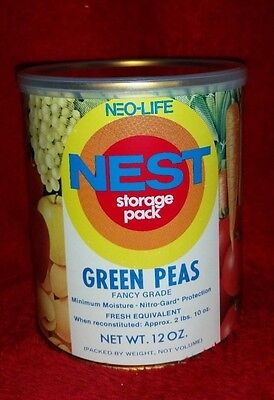 Vintage Food Neo-Life Nest Storage Pack Green Peas Unopened Canister