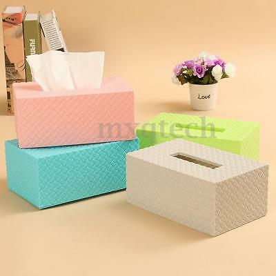 New Elegant Fashion Paper Cover Case Tissue Box Holder Durable Home Office Decor