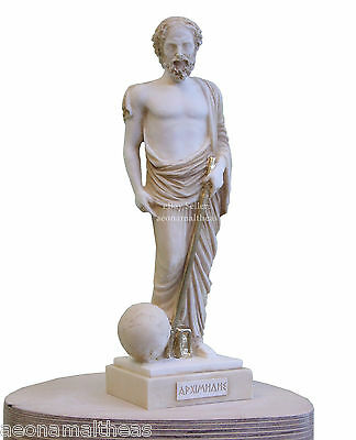 Archimedes of Syracuce - Statuette of Ancient Greek Classical Scientist - 25cm