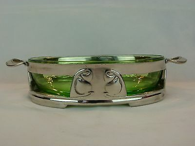A Rare Liberty & Co Tudric Pewter and Glass Fruit Bowl by Archibald Knox 01393.