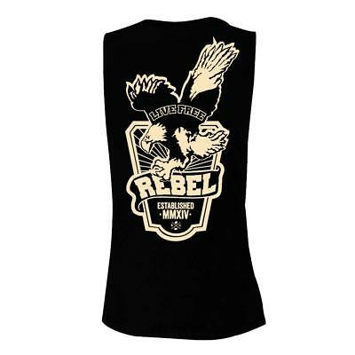 New Rebel Coffee Co. Muscle Tank - Live Free - Black/Cream from The WOD Life