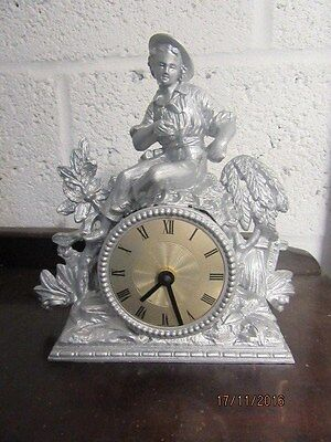 "Upcycled Garden Quartz Clock In Working Order 9"" x 9"""