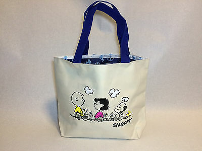 PEANUTS SNOOPY REVERSIBLE BAG IVORY with CHARLIE BROWN & LUCY
