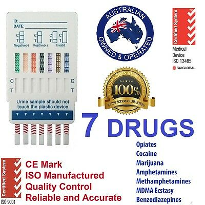 Drug Testing Kits Urine 7 Drugs Test Accuracy Marijuana Cocaine Meth Ice Crack