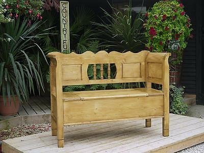 Pretty! Old Antique Style Pine Hungarian Box Bench/settle/pew/storage/box